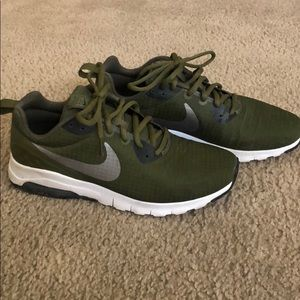 Women's Nike air max shoes in green